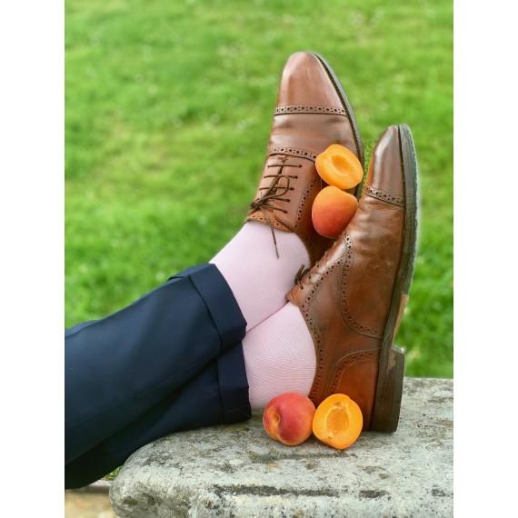 Le Flageolet chaussette unie rose pastel