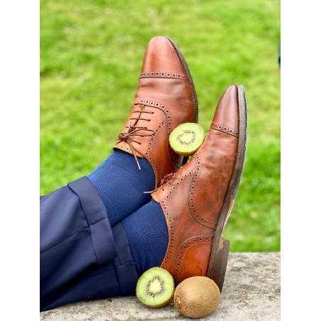 Le Flageolet chaussette unie bleu marine