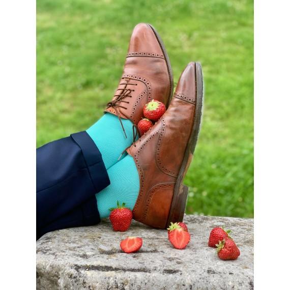 Le Flageolet chaussette unie menthe