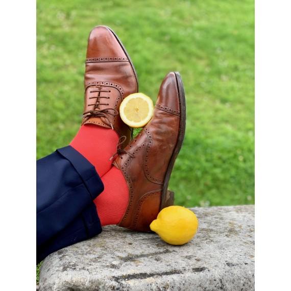 Le Flageolet chaussette unie corail