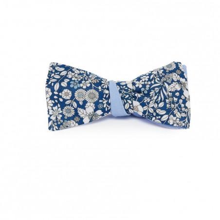 Noeud Papillon Bleu Liberty June Avec Revers Gabardine Bleu Ciel