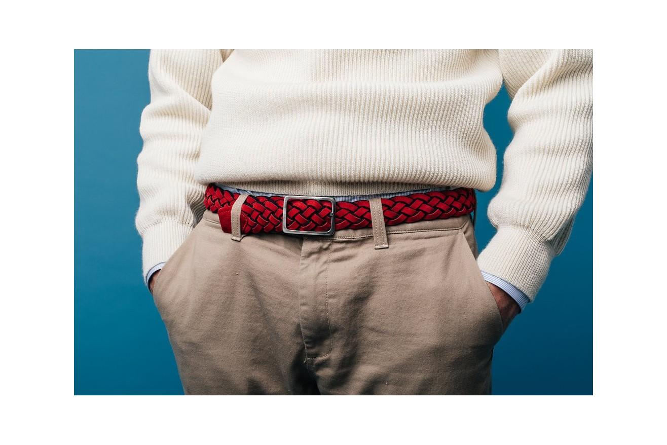 Nos ceintures tressées sont en laine et cuir. Superbes finitions, et réversibles !
